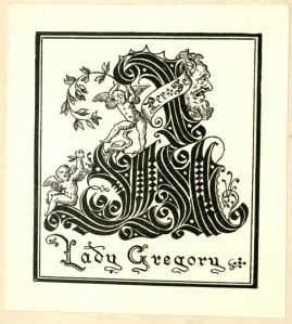 Lady Gregory's bookplate.