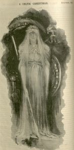 Watercolor of Queen Maeve by Æ (note his signature on the left side of the illustration.)