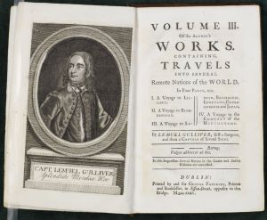 George Faulkner's 1735 publication of The Works of Jonathan Swift established Swift as a prominent literary figure.