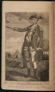 Washington as Captain General of the American army by Boston artist John Norman, from  v.2 of  <i> An Impartial History of the War in America </i>.