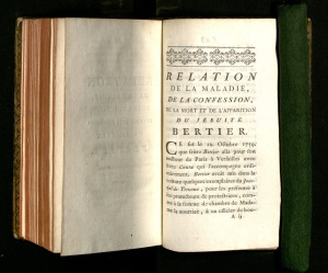 """Voltaire's satire: """"An Account of the Sickness, Confession, Death, and Apparition of the Jesuit Berthier."""""""