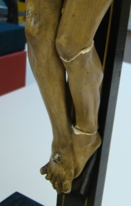 Broken crucifix from the Burns Library's Liturgy and Life Collection.