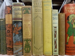 Various editions of <i> Gulliver's Travels </i> from the Burns Library's Irish Collection.