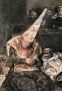 http://en.wikipedia.org/wiki/File:Goya_Tribunal.Flammenhut.jpg