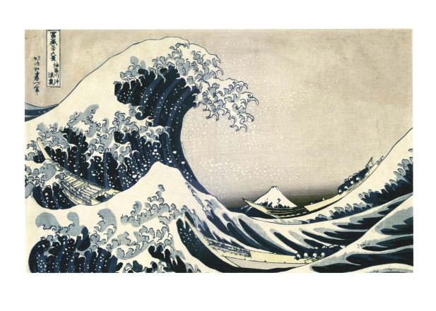 """Under the Wave off Kanagawa"" by an unknown artist after Hokusai, Japanese Prints Collection, MS.2013.043, John J. Burns Library, Boston College."