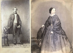Photographs of Gerard Manley Hopkins's parents - Manley Hopkins (left) and Katherine Hopkins (right), from the Hopkins Family Papers, John J. Burns Library, Boston College.
