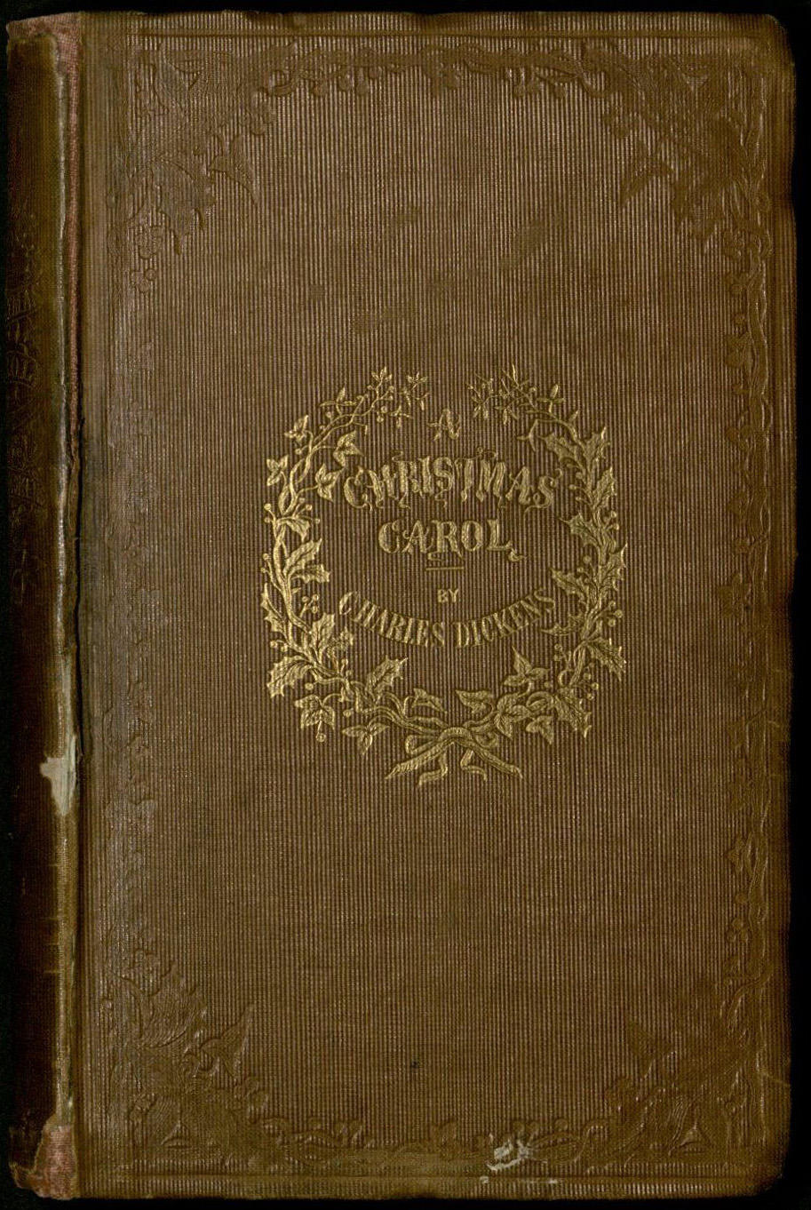 the cover of dickenss a christmas carol