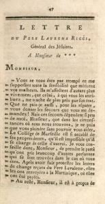Lettres sur les opérations du P. de Lavalette, Jésuite, et Supérieur Général des Missions des isles Franc̜oises du vent de l'Amerique, nécessaires aux négocians (1760)
