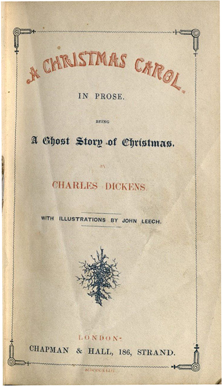 title page of the first edition of a christmas carol - A Christmas Carol Full Text