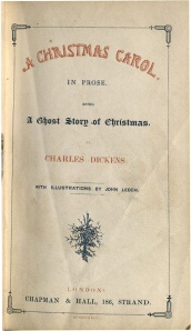 Title page of the first edition of <i>A Christmas Carol. </i>