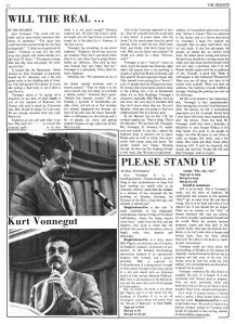 "Jim Creamer and Bill Peccorino, ""Will the Real…,"" and ""Please Stand Up,"" <a href=http://newspapers.bc.edu/ <i>The Heights</i></a>, October 14, 1969."