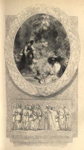 Title page for <i>Much Ado about Nothing</i>, from volume two of Charles Knight's <i>The Pictorial Edition of the Works of Shakspere</i>.
