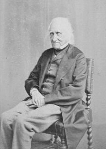 A <i>carte de visite</i> photograph of Charlies Knight in old age, circa 1865.