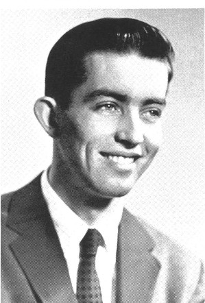 Higgins as an undergraduate student at Boston College. The <em>Heights</em>, Volume 41, Number 24, May 13, 1960.