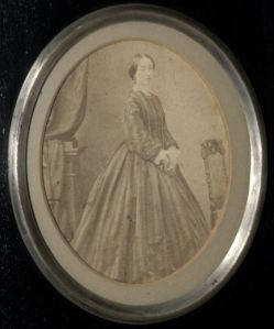 Undated framed photograph of Marianne Caroline Patmore, Box 4, Folder 12, Coventry Patmore Papers, MS.2006.062, John J. Burns Library, Boston College.