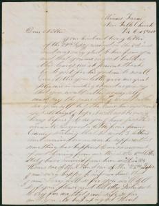 Letter from Michael Leary to Ellen (Nellie) Desmond, Box 1, Folder 10, Michael H. Leary Letters, MS.1986.043, John J. Burns Library.