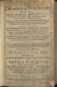 The Discovery of Witchcraft by Reginald Scott, printed in 1665 in London, BF 1565 .S4 1665, Williams Collection, John J. Burns Library.