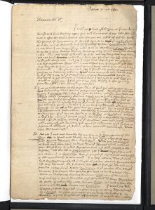 "March 31, 1692 letter by Cotton Mather regarding the Salem Witch Trials, <a href=""http://bc-primo.hosted.exlibrisgroup.com/primo_library/libweb/action/dlSearch.do?institution=BCL&vid=bclib&onCampus=true&group=GUEST&loc=local,scope:(BCL)&query=any,contains,ALMA-BC21344122680001021"">Cotton Mather Letters</a>, John J. Burns Library, Boston College."