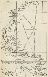 "Map of the Caribbean from <a href = ""http://bc-primo.hosted.exlibrisgroup.com/primo_library/libweb/action/dlSearch.do?institution=BCL&vid=bclib&onCampus=true&group=GUEST&loc=local,scope:(BCL)&query=any,contains,ALMA-BC21317741150001021""><i>Stark's History and Guide to Barbados and the Caribbee Islands</i></a> by James H. Stark, F 2001 .S79, Williams Collection, John J. Burns Library, Boston College."