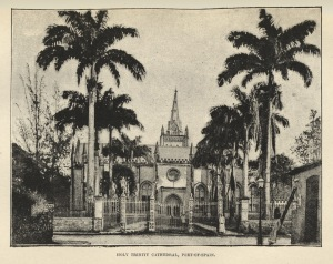 "Illustration of Holy Trinity Cathedral in Port-of-Spain from  <a href = ""http://bc-primo.hosted.exlibrisgroup.com/primo_library/libweb/action/dlSearch.do?institution=BCL&vid=bclib&onCampus=true&group=GUEST&loc=local,scope:(BCL)&query=any,contains,ALMA-BC21319026130001021""><i>Trinidad from A Guide to Trinidad: A Hand-book for the Use of Tourists and Visitors</i></a> by J.H. Collens, F 2121 .C69, Williams Collection, John J. Burns Library, Boston College."
