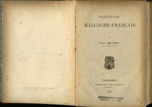 Malagache Dictionnaire 1888