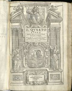 Title page to the fourth book of Palladio's I quattro libri dell'architettura.
