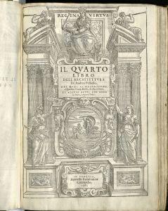 Title page to the fourth book of Palladio's I quattro libri dell'architettura.