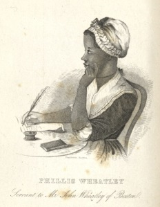 "Engraving of Phillis Wheatley from <a href = ""http://bc-primo.hosted.exlibrisgroup.com/primo_library/libweb/action/dlSearch.do?institution=BCL&vid=bclib&onCampus=true&group=GUEST&loc=local,scope:(BCL)&query=any,contains,ALMA-BC21371939730001021"">Memoir and Poems of Phillis Wheatley</a>, PS 866 .W5 1838, Boston Collection, John J. Burns Library, Boston College."