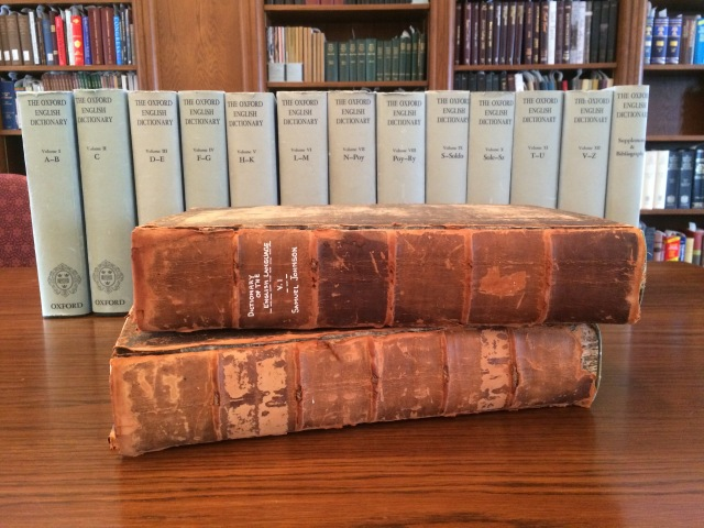 Samuel Johnson's Dictionary of the English Language and the Oxford English Dictionary.