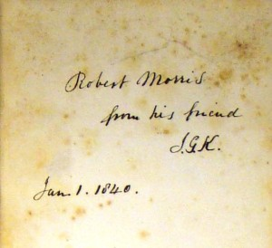 Despite their varying condition, subject matter, and authorship, the books had one thing in common: the signature of their former owner, neatly inscribed on the back of the front cover, usually with the year of purchase or gift.