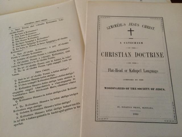 A Catechism of the Christian Doctrine in the Flat-Head or Kalispél Language (1880)