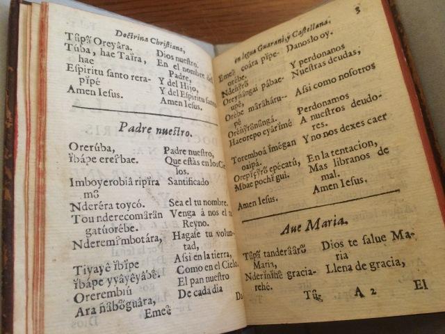 Catecismo de la lengua guarani (1640), PM6082 .Z77 R85 1640 Jesuitica Collection, John J. Burns Library, Boston College.