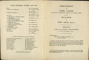 The cast for the mock trial, PR 4564 .J3 1914, Irish Collection, John J. Burns Library , Boston College.