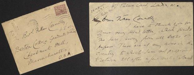Letter Written by Wilfrid Meynell