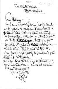 On of the many letters exchanged by Belloc and G. K. Chesterson