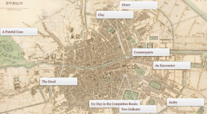 Stories from Dubliners mapped to where they took place in Dublin.