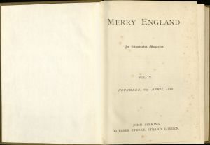 The publishers page from the April 1888 edition of Merry England.