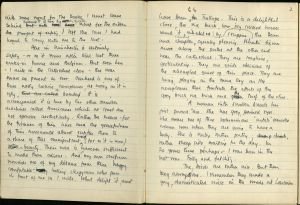 Pages from Anthony Rhodes' war diary recounting the Evacuation at Dunkirk.