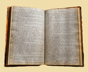 """The first two pages of rules Father Fulton created for the Boston College Faculty in 1864"""