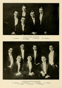 The 1919 Fulton Debating Society in their competition attire