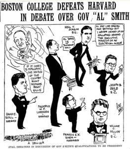 The Boston Globe depiction of the 1928 Fulton Society debate