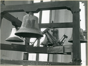 The four bells of the Gasson tower fondly named Ignatius, Xavier, Gonzaga, and Berchmans