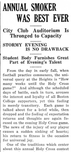 Article from The Heights, No. 10, 4 December 1923