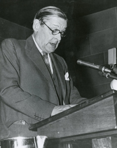 T. S. Eliot at Boston College, 1958