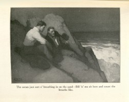 Illustration by N.C. Wyeth from Hiker Joy by James B. Connolly, John J. Burns Library, Boston College.