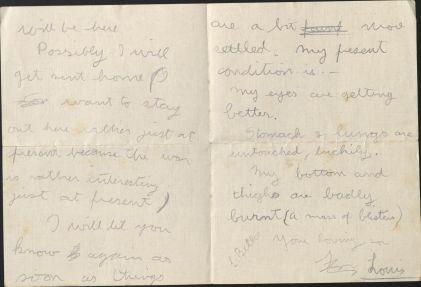 Letter, August 14, 1918, Box 5 Folder 1, Belloc Family Correspondence, MS.2007.007, John J. Burns Library, Boston College.