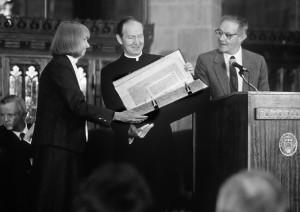 Fr. Monan at millionth volume ceremony