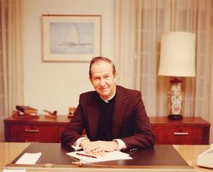 Fr. Monan at Desk