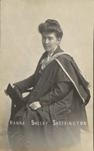 photo of Hanna Sheehy Skeffington in graduation robes
