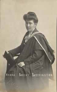photo of Hanna Sheehy Skeffington in graduation robes